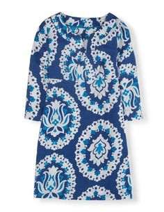 Casual Linen Tunic WH783 Day Dresses at Boden