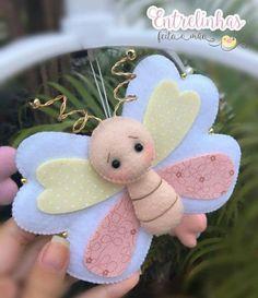 Felt Crafts, Diy And Crafts, Crafts For Kids, Felt Patterns, Sewing Patterns, Butterfly Felt, Felt Fish, Easter Tree, Project Nursery