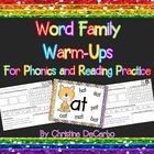 This 70 page word family packet includes a fun, interactive practice page for over 30 different word families that are commonly taught throughout t...