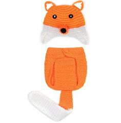 DAN Handmade Knitted Crochet Hat Costume Newborn Baby Photograph Props Set (Fox) #handmade DAN Handmade Knitted Crochet Hat Costume Newborn Baby Photograph Props Set (Fox)    1.100% brand new and high quality.    2.Material: eco-friendly soft crochet cotton.     3.Handmade crochet clothes with elastic andbreathable design, for comfortable to wear.    4.Perfect for memorable photography shoots, baby shower gift, and presents.     5.suit for 0-6 months babies.    6. Perfect for memorab..