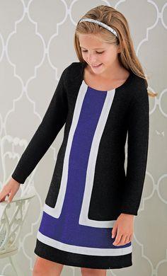 girls color block dress $24.99