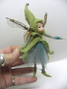 tiny ooak pose-able FAIRY pixie elf art DOLL by DinkyDarlings Clay Fairies, Elves And Fairies, Forest Creatures, Magical Creatures, Pixie, Elf Art, Kobold, Baby Fairy, Witches