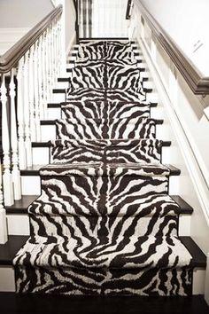 Zebra stair runner