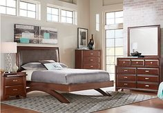 Shop for a Belcourt Queen Dark Cherry 5Pc Platform Bedroom at Rooms To Go. Find Bedroom Sets that will look great in your home and complement the rest of your furniture.