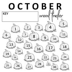 These SPOOKTASTIC Halloween mood tracker ideas are the perfect way to track your emotions in your Bullet Journal or planner during October! Ideas include monsters, ghosts, bats and pumpkins! Bullet Journal Mood Tracker Ideas, Bullet Journal Layout, Bullet Journal Ideas Pages, Bullet Journal Inspiration, Journal Pages, Journals, Notebooks, Bullet Journal Halloween, Bullet Journal October