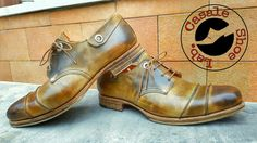 Handmade leather shoes by Umby Casale.