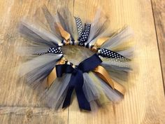 Girls Game Day Tutu. Navy Old Gold and White by EverythingSorella, $28.50