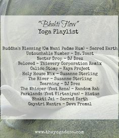 yoga playlist, bhakti flow Yoga Playlist, Yoga Breathing, Bhakti Yoga, Om Mani Padme Hum, Yoga Music, Yoga Flow, Playlists, Yoga Teacher, Beauty