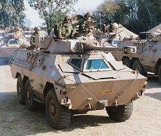 These are some of the war machines used in the conflict between the South African Defence Force and Angola, Cuba, and Umkhonto we Sizwe. Military Armor, Military Gear, Military Equipment, Army Vehicles, Armored Vehicles, South African Air Force, Patton Tank, World Tanks, Army Day