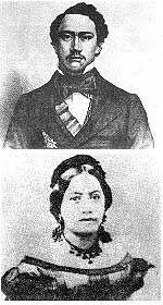 November 28:  KING KAMEHAMEHA AND QUEEN EMMA OF HAWAII  (28 NOV 1864)