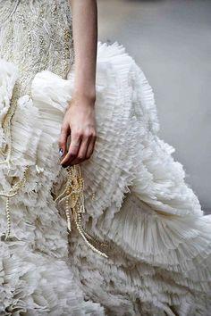 Beautiful Fashion Details...Alexander McQueen.