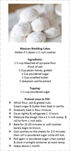 ...Mexican Wedding Cakes