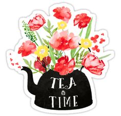 """Tea time"" Stickers by Ilze Lucero 