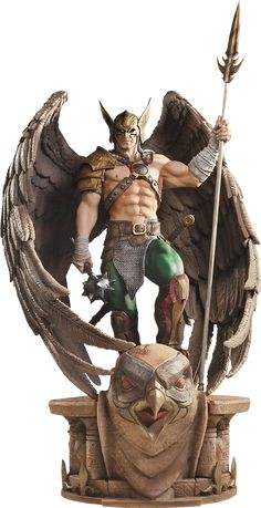 DC Comics Hawkman Closed Wings Statue by Iron Studios Coleccionables Sideshow, Sideshow Collectibles, Statues, Comic Books Art, Comic Art, Robert E Howard, Character Art, Character Design, 3d Art