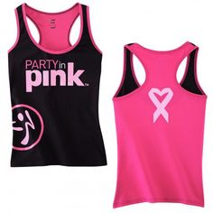 I want!-Party in Pink workout gear! Support a great cause with this stylish tank! Zumba Love!!