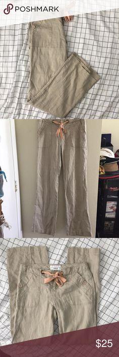 SANCTUARY Size 26 Linen Drawstring Pants SANCTUARY SURPLUS Anthropologie Size 26 Escape Linen Drawstring Pants   Size: 26  Materials: 100% Linen  Measurements: Waist: 15.5in Hips:18in Rise: 18.5in Inseam: 31.5in Length: 39.5in Anthropologie Pants