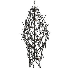 Arteriors Fortner Chandelier ($1,152) ❤ liked on Polyvore featuring home, lighting, ceiling lights, iron, iron lamp, exposed bulb lamp, arteriors chandelier, arteriors lamps and iron lighting
