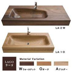 wash bowl(ウォッシュボウル) -LAGO(ラーゴ) Wooden Bathtub, Wood Bathroom, Bathroom Furniture, Bathroom Layout, Bathroom Ideas, Bathroom Interior Design, Interior Design Living Room, Wooden Bathroom Accessories, Wood Sink