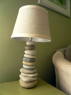 i am in love with the look of these cairn lamps - and here's a little d.i.y. list of items needed for only $25 to save yourself lots of money!