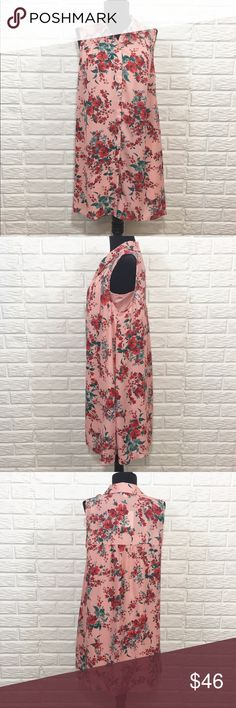 """NWT jack by bb dakota button up dress❤️ NWT jack by bb dakota button up rose floral dress With a separate detachable slip included! XS - 17"""" - 18"""" under pit & shoulder to hem  32"""" S   -  18 - 19""""                                                   33"""" M -  18 1/2"""" - 19"""".                                            33"""" L -   20"""" - 21"""".                                                 34"""" Jack by BB Dakota Dresses"""