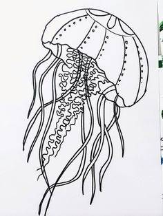 smART Class: April Showers and Jellyfish Watercolor Resist Sea Life Art, Sea Art, Jellyfish Painting, 5th Grade Art, School Art Projects, Art Lessons Elementary, Animal Coloring Pages, Aboriginal Art, Fish Art