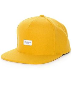 Turn heads on the streets when you add the unique look of The Hundreds Script strapback to your hat game. Help your outfits stand out with the unique yellow colorway with a blended wool construction and a branded adjustable strapback sizing piece so you'l