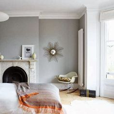 Modern Country Style: Colour Study: Farrow and Ball Lamp Room Gray Click through for details.
