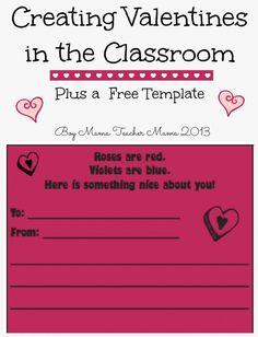 Boy Mama Teacher Mama: Creating Valentines in the Classroom