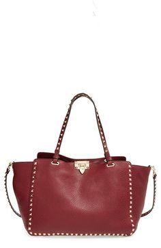 Valentino 'MediumRockstud' Leather Tote available at #Nordstrom