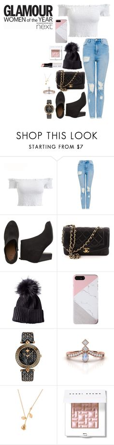 """""""New year new me"""" by heidibartholdy on Polyvore featuring Chanel, Versace, Bobbi Brown Cosmetics and Goody"""