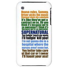 Supernatural Quotes iPhone Case