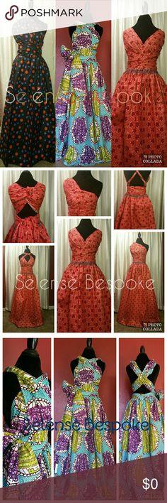 Ankara infinity maxi dress 100% cotton African print. Custom made to order. Dresses Maxi
