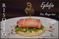 Dos d'eglefin en robe de lard sur risotto truffé et pois mange-tout En savoir plus sur http://www.paperblog.fr/5096207/recette-de-fetes-dos-d-eglefin-en-robe-de-lard-sur-risotto-truffe-et-pois-mange-tout/#Cmj5ZTHbdTcVTMQC.99