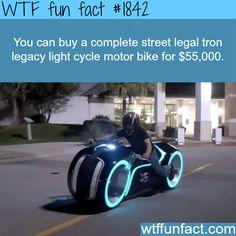 Street legal tron legacy light cycle - WTF fun facts-( If i had money. Tron Legacy, Wtf Fun Facts, Funny Facts, Funny Memes, Jokes, Random Facts, Random Quotes, Tron Light Cycle, Tron Bike