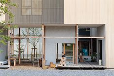 店舗_ Dragon Court Village ドラゴンコートビレジ | Eureka Japan Architecture, Interior Architecture, Interior And Exterior, Cafe Design, House Design, Compact House, Cafe House, Rich Home, Wooden House