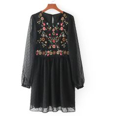 Cheap dress vestidos, Buy Quality mesh dress directly from China one piece dress Suppliers: Vadim vintage floral embroidery mesh dress pleated chic transparent o neck long sleeve ladies one piece dresses vestidos Floral Embroidery Dress, Mini Robes, Half Sleeve Dresses, Mini Vestidos, Mode Hijab, Mesh Dress, Tulle Dress, Smock Dress, Pretty Dresses