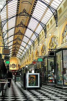 Stock photo: Royal arcade shopping centre Melbourne Australia