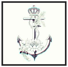 Anchor tattoo dont like the crown & change the flower to a rose also add aquarius