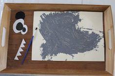 La brigade d'Annaelle: *** Peindre avec une fourchette : un loup rigolo *** Big Bad Wolf, Three Little Pigs, Eyfs, Art Plastique, Crafts For Kids, Halloween, Frame, Canapes, Albums