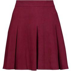 ALICE + OLIVIA   Lee pleated suede mini skirt (7.993.270 IDR) ❤ liked on Polyvore featuring skirts, mini skirts, bottoms, юбки, pleated mini skirt, pleated miniskirt, suede mini skirt, purple pleated skirt and purple skirt
