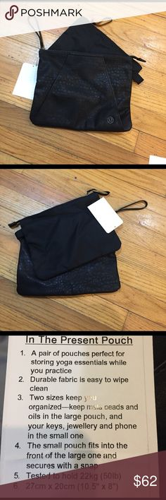 Lululemon In the Presence Pouch NWT lululemon athletica Bags Clutches & Wristlets