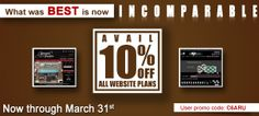 10 Percent off on all Websites