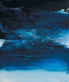 Zao Wou-Ki (Chinese/French, 1921-2013) - Blue Composition, 1967