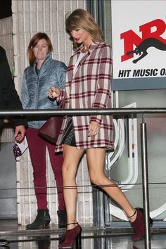 What Taylor Swift Wears On A European Vacation  #refinery29  http://www.refinery29.com/2014/10/75996/taylor-swift-european-fashion#slide2  Here's how to turn a simple shirt and miniskirt into a bona fide statement.