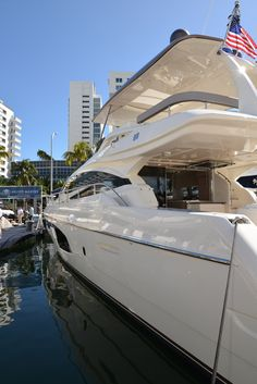 Ferretti #Yachts on display at the #MiamiBoatShow 2015, 12-16 Feb 2015. #luxury…