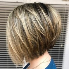 Stacked Bob With Wispy Layers