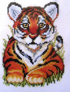 tiger cross stitch - Google Search