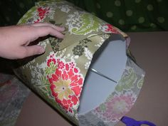 My Master Bedroom - Covered Lampshade Tutorial