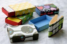 so cute, these itty bitty books in itty bitty boxes - by @Jennifer Milsaps L casa /  #JenniferCasa