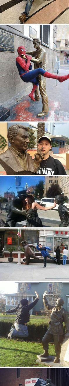 Posing With Statues: